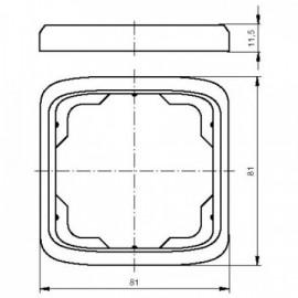 Rámeček ABB TANGO 3901A-B10 C jednonásobný slonová kost