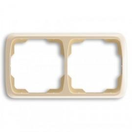 Rámeček ABB TANGO 3901A-B20 C dvojnásobný vodorovný slonová kost