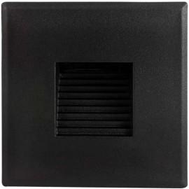 LED orientační světlo DECENTLY S2 85x85mm, 3W, černé