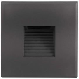LED orientační světlo DECENTLY S2 85x85mm, 3W, šedé