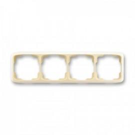 Rámeček ABB TANGO 3901A-B40 C čtyřnásobný vodorovný slonová kost