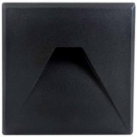 LED orientační světlo DECENTLY S3 85x85mm, 3W, černé