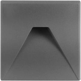 LED orientační světlo DECENTLY S3 85x85mm, 3W, šedé