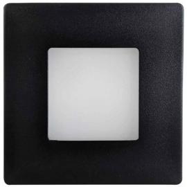 LED orientační světlo DECENTLY 85x85mm, 1,7W, IP44, černé