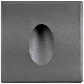 LED orientační světlo DECENTLY S1 85x85mm, 1,5W, šedé