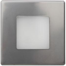 LED orientační světlo DECENTLY 85x85mm, 1,7W, IP44, nerez