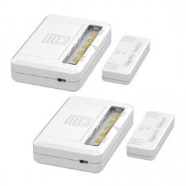 LED světélka na baterie do skříní, komod a zásuvek, 40lm, 2ks v balení