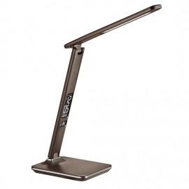 Stmívatelná LED stolní lampa s displejem 9W, 3000-6500K, hnědá