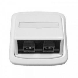 Datová zásuvka Tango pro internet 2x RJ45 bílá