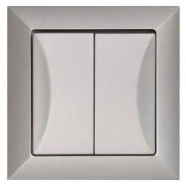 Vypínač Opus č. 5 sériový - lustrový, stříbrný