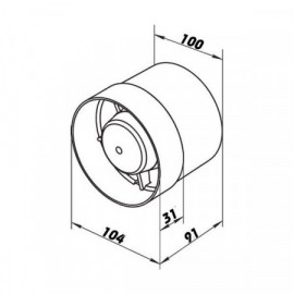 Ventilátor do potrubí Vents 100 VKO L TURBO - ložiska + vyšší výkon