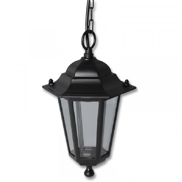 Zahradní svítidlo černé, Lucerna Z6105-CR závěsná