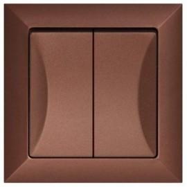 Vypínač Opus č. 5 sériový - lustrový, měděný