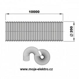 Vzt ventilační potrubí flexi EURO AL 200/10m