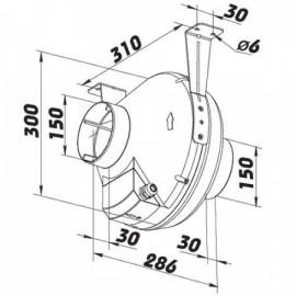 Plastový radiální potrubní ventilátor Turbine P - 150mm