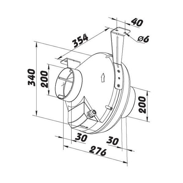 Ventilátor průmyslový Dospel WOKS 630