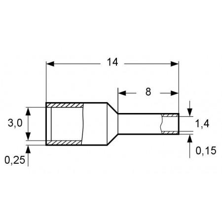 Větrací nerezová mřížka bez příruby HACO NVN 250x250K