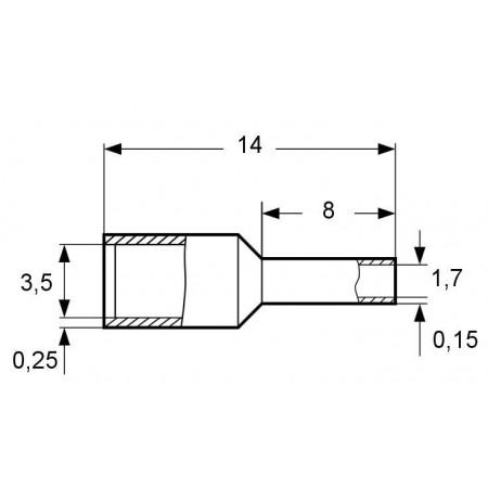 Větrací nerezová mřížka bez příruby HACO NVM 300x200K