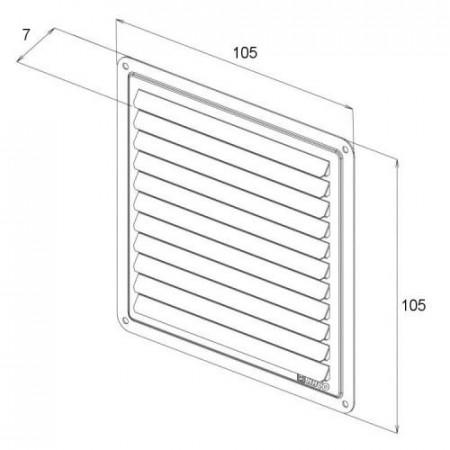 Kruhový koupelnový ventilátor DOSPEL 100 NV 10 - kuličková ložiska