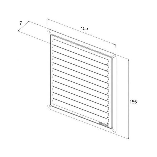 Kruhový koupelnový ventilátor DOSPEL NV 15 - kuličková ložiska