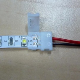 Konektor pro připojení LED pásku bez pájení, 8 mm