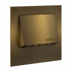 LED orientační světlo se záložním zdrojem NAVI 73x73mm, IP20, zlaté