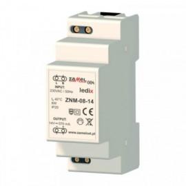 Transformátor pro LED svítidla na DIN lištu 14V DC / 8W