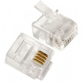 Lisovací telefonní konektor RJ11 6/4 4pin