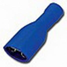 Faston zásuvka 6,3 mm modrá pro kabel 1,5-2,5mm2 plná izolace