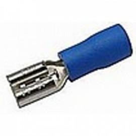 Faston zásuvka 4,8 mm modrá pro kabel 1,5-2,5 mm2