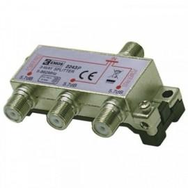 Anténní rozbočovač s F konektory - trojnásobný, Power pass