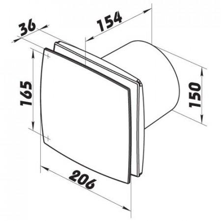 Revizní dvířka kovová DM 200 x 200 zavírání magnety