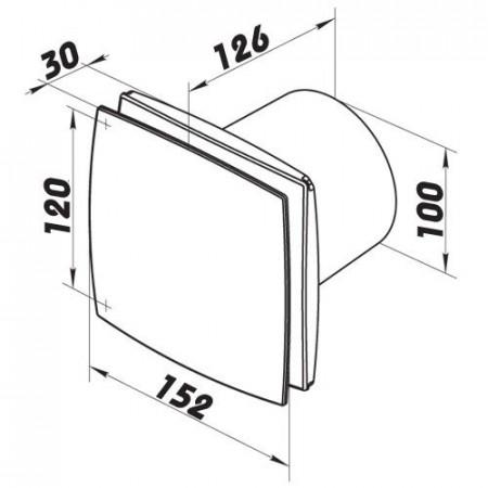 Revizní dvířka kovová DM 250x250 zavírání magnety