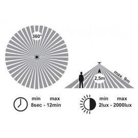Svítidlo s čidlem pohybu VICTOR 1xE27, 28cm, IP44