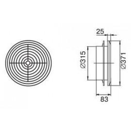 Odvětrávací mřížka stropní difusor průměr  315 mm MV315PFs