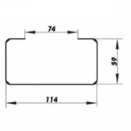 PVC úchyt čtyřhranného potrubí 110x55mm
