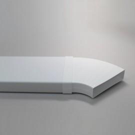 Ohyb PVC pro čtyřhranné potrubí nastavitelný 110 x 55 mm
