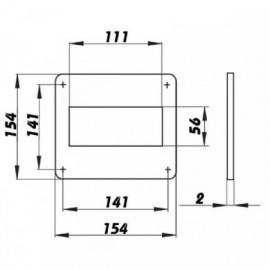 Montážní rámeček pro čtyřhranné potrubí 110x55mm