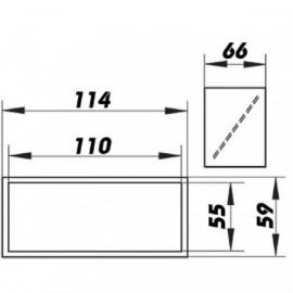 Zpětná klapka PVC pro čtyřhranné potrubí 110 x 55 mm