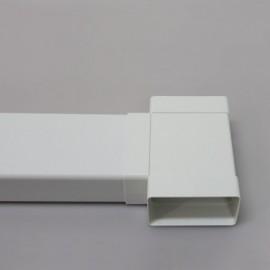 Rozbočka T - spojka PVC čtyřhranného potrubí 110 x 55 mm