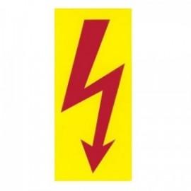 Značka výstrahy blesk blesk žlutý 28x53 mm samolepící