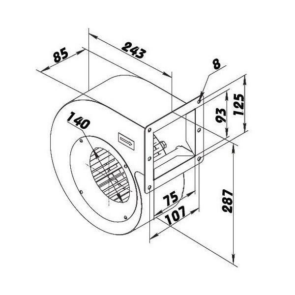 Elektrický domovní zvonek MINI 1 nejiskřící