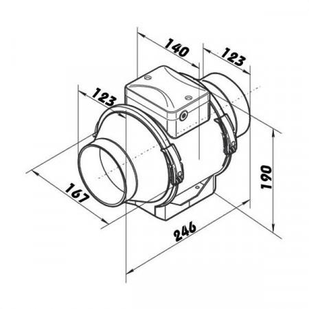 Venkovní teploměr digitální drátový 02101