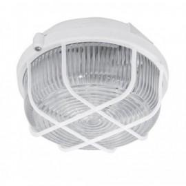 Průmyslové svítidlo KRUH bílé, 1xE27, 21cm, IP44