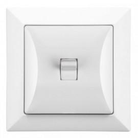 Vypínač RETRO tlačítko bílé