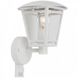 Svítidlo s čidlem pohybu LAURA bílá, 1xE27, 28x21cm, IP44