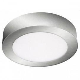 Stropní přisazený LED panel FENIX-R LED90, matný chrom, 18W, teplá bílá