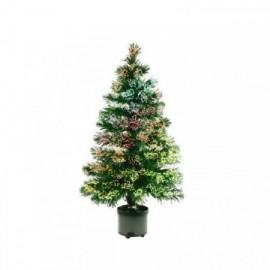 Umělý vánoční stromeček s optickými vlákny 80cm, barevný
