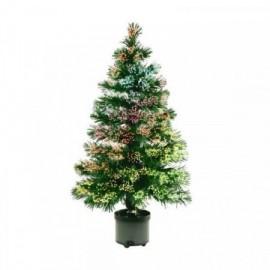 Umělý vánoční stromeček s optickými vlákny 120cm, barevný