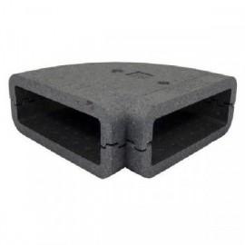 Izolace pro 90st. čtyřhranné PVC koleno, 220x90mm